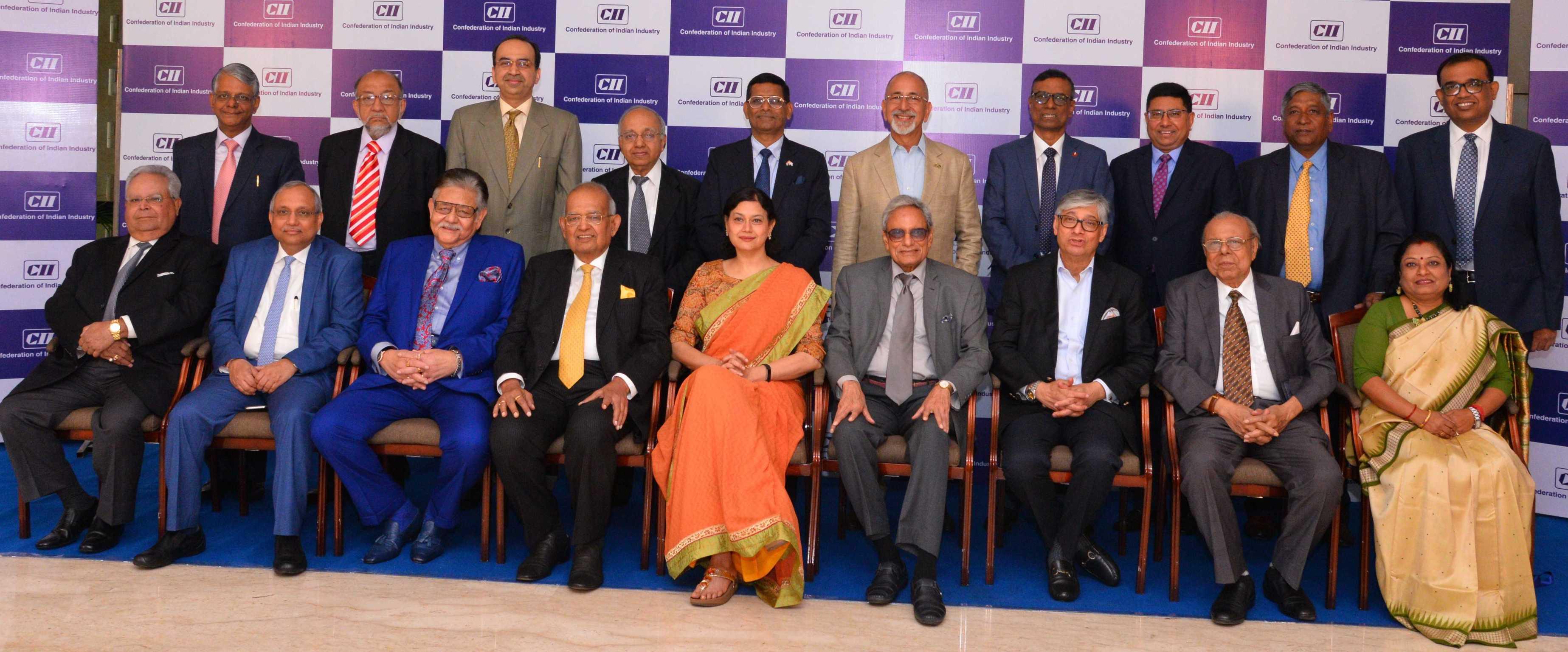 Industry stalwarts at the CII Annual General Meeting in Kolkata