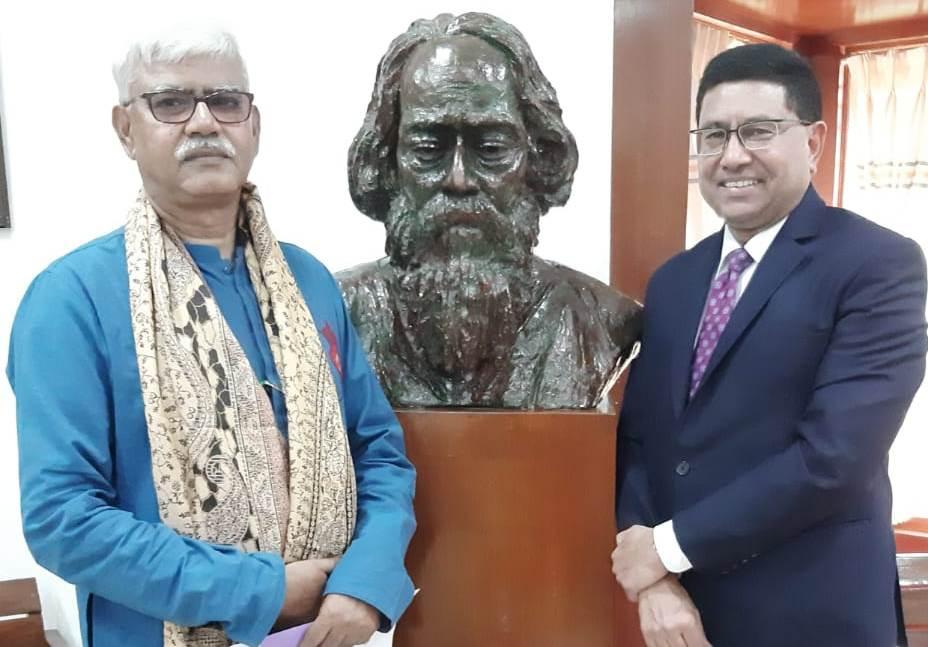 Mr Sanjay Budhia at Visva-Bharati University