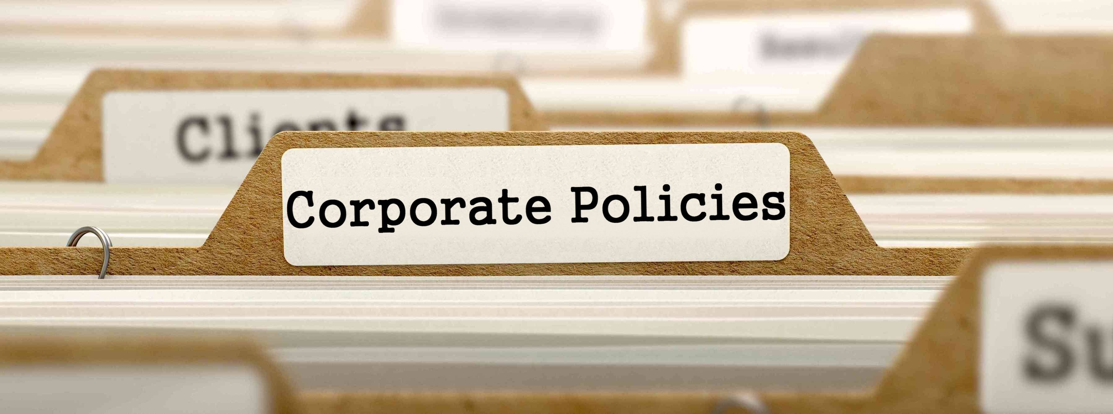 Corporate Policies