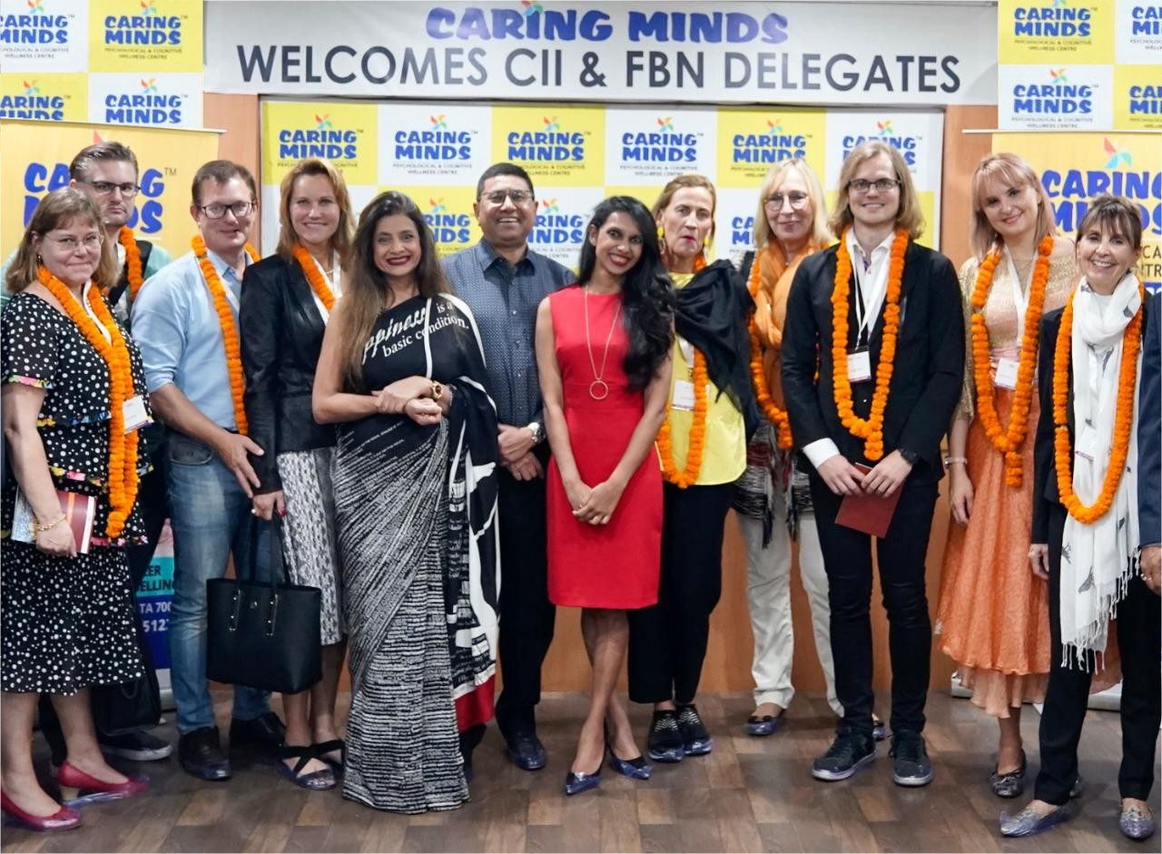 An international delegation comprising fellow leaders of family businesses from across the world visited Patton Groups's initiative Caring Minds on 13th October 2019