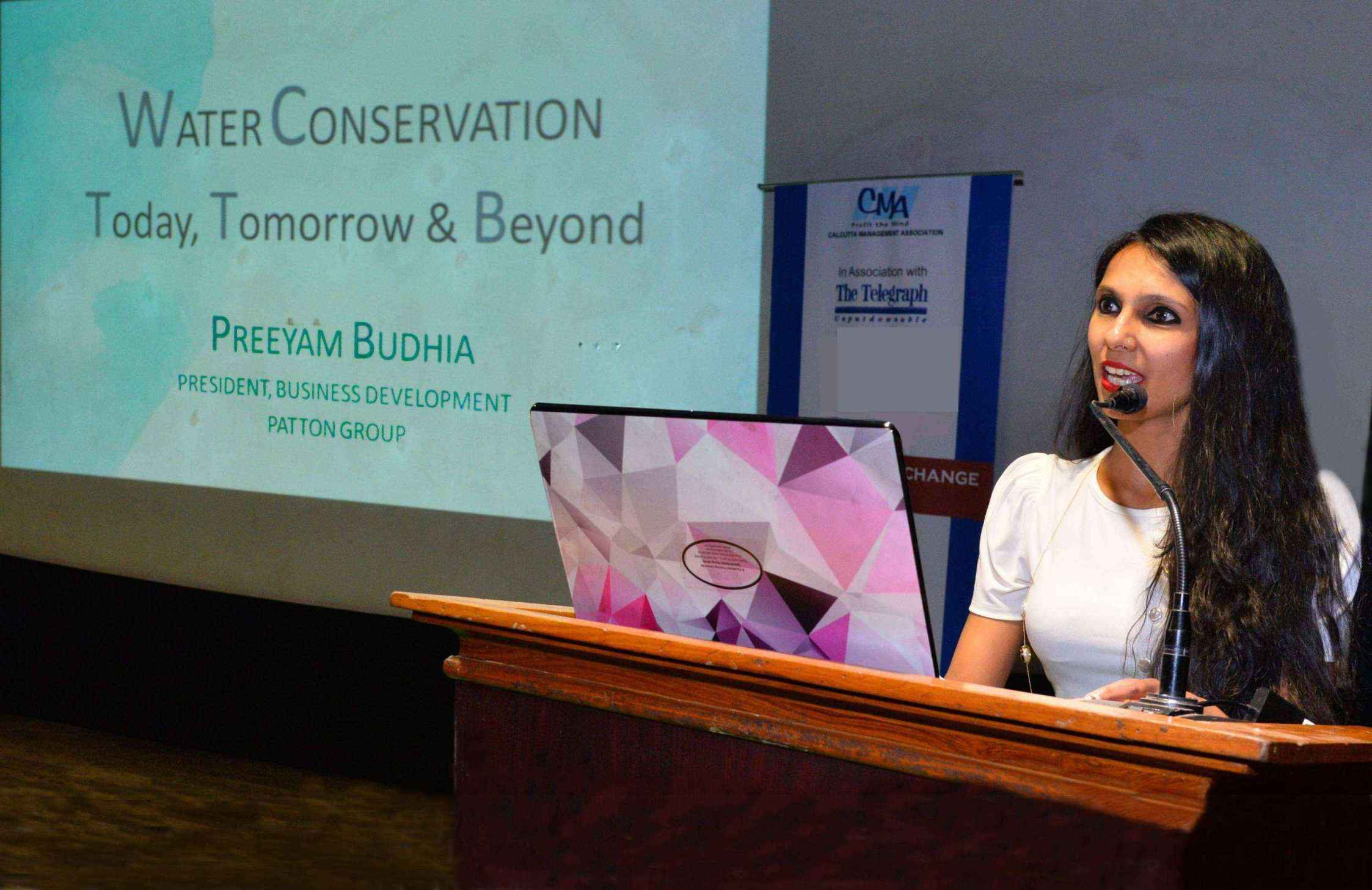 Preeyam Budhia Highlights India's Water Crisis & Patton Group's Water Conservation Initiatives