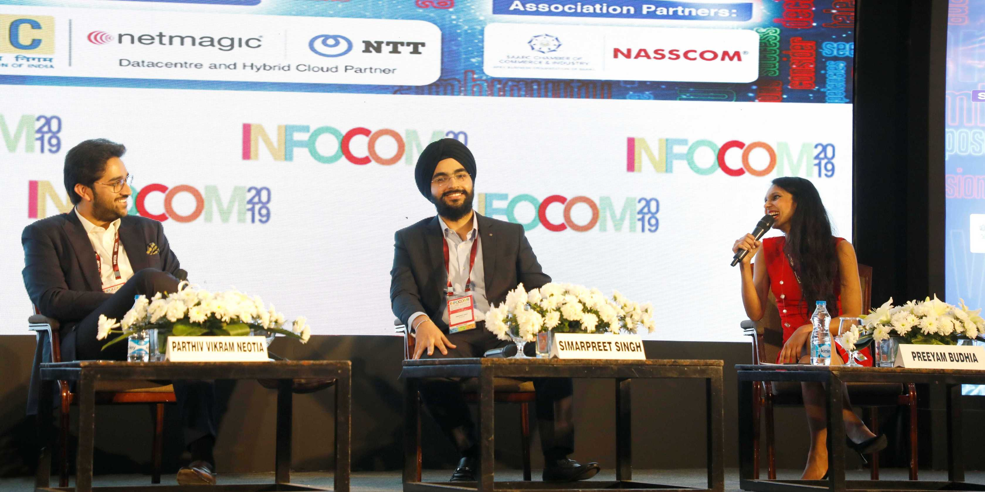 Preeyam Budhia speaking at Infocom 2019