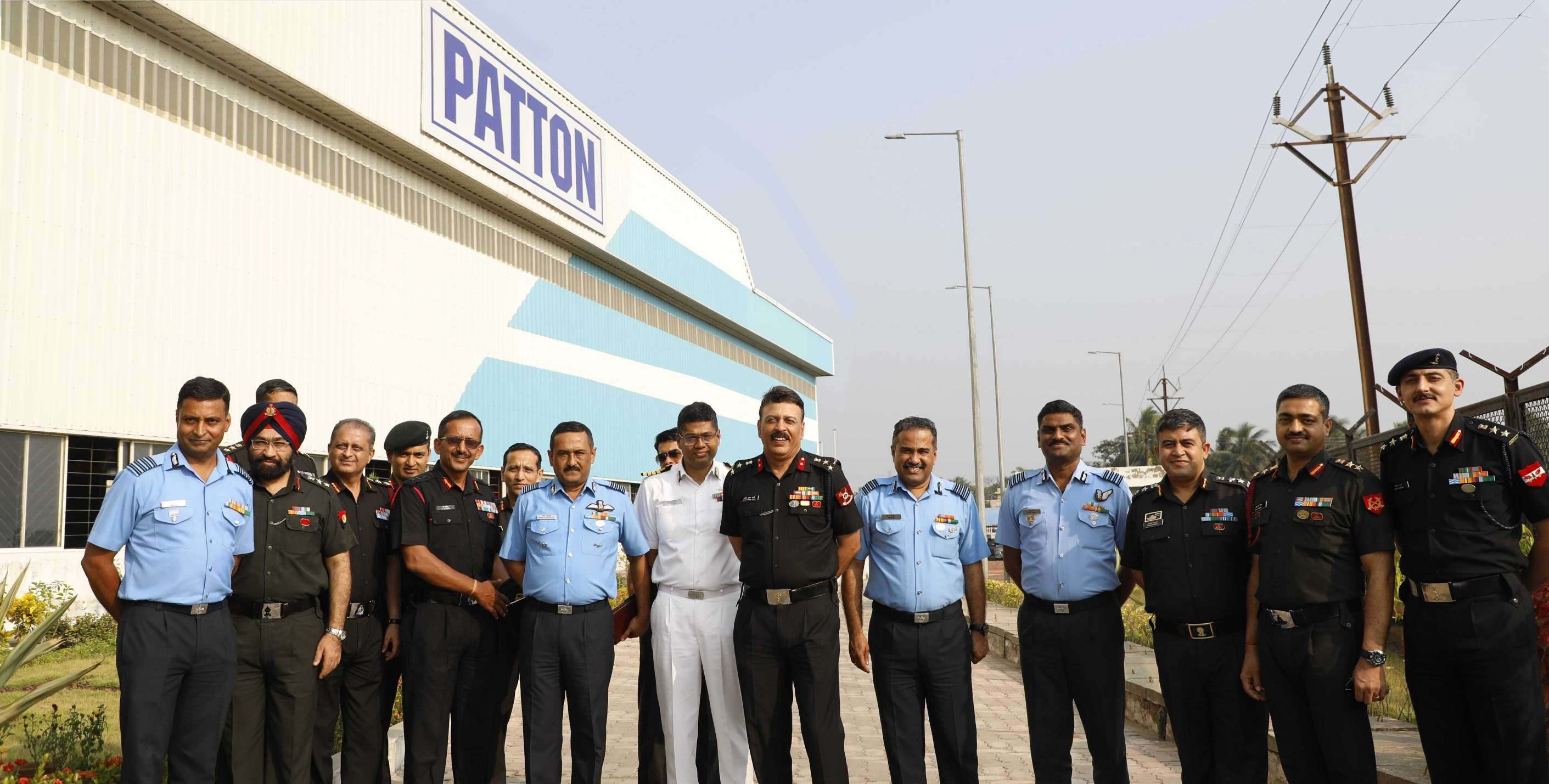 Senior Army Officials Visit Patton's Uluberia Plant