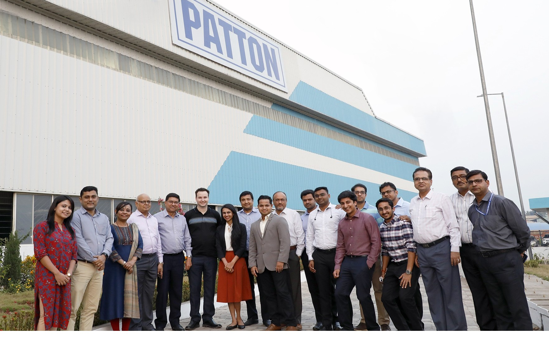Team Patton with overseas client at our Uluberia Patton Plant