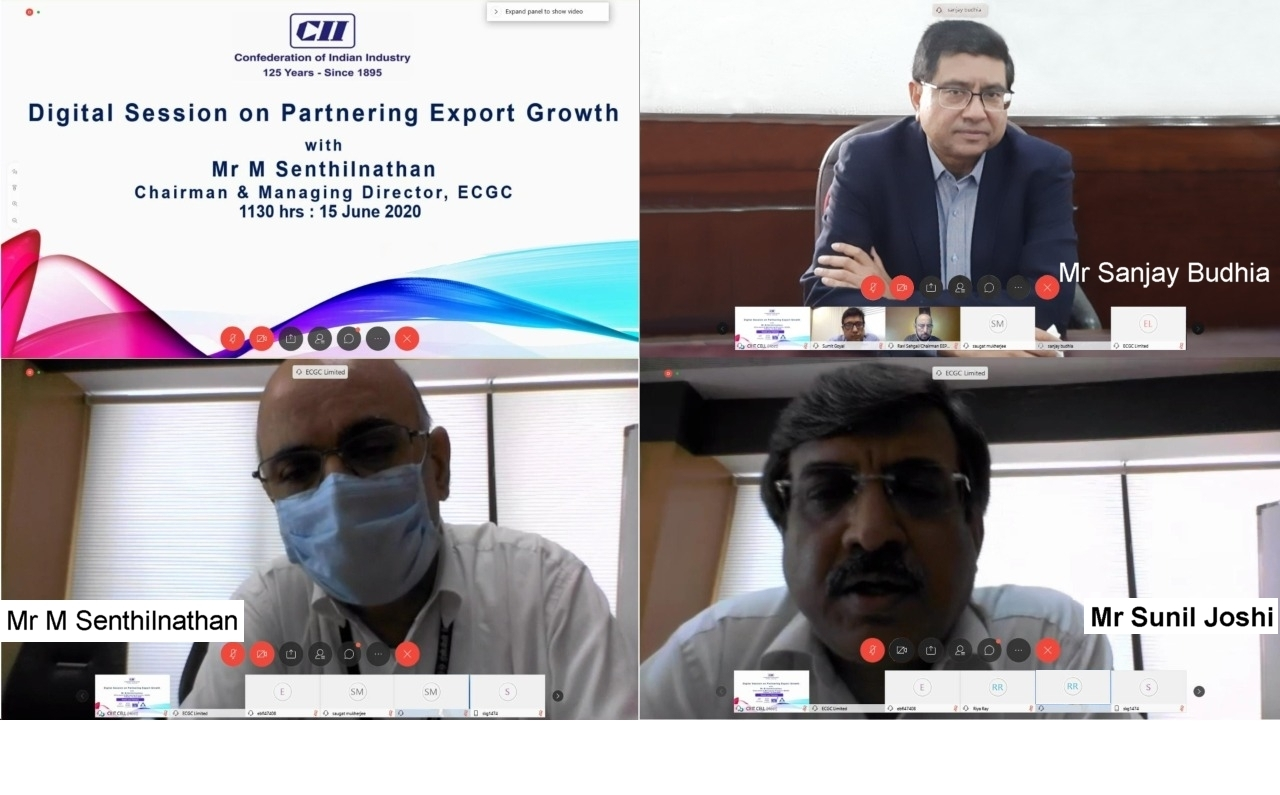 Sanjay Budhia at CII e-session on Partnering Export Growth