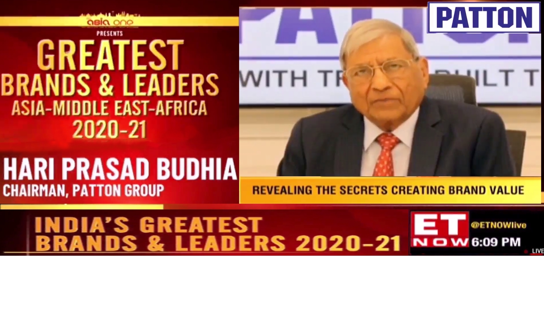 Chairman H P Budhia nominated for India's Greatest Brands & Leaders 2020-21 Award