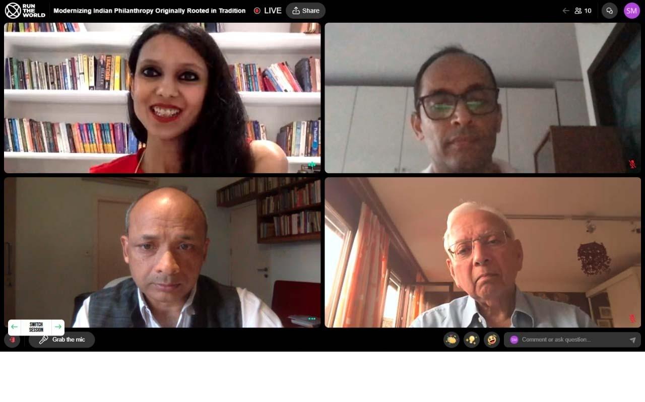 Preeyam Budhia speaking at the Horasis India Meeting 2021