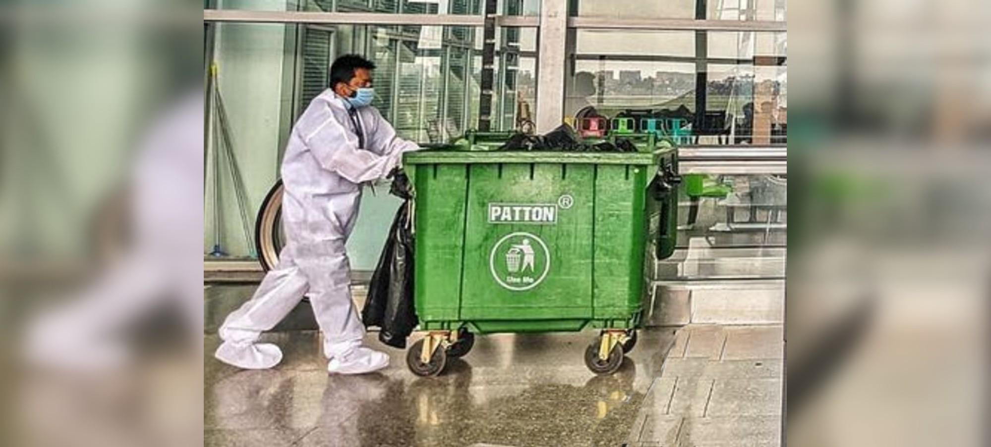 Patton Industrial Waste Bin in use at the Netaji Subhash Chandra Bose International Airport, Kolkata